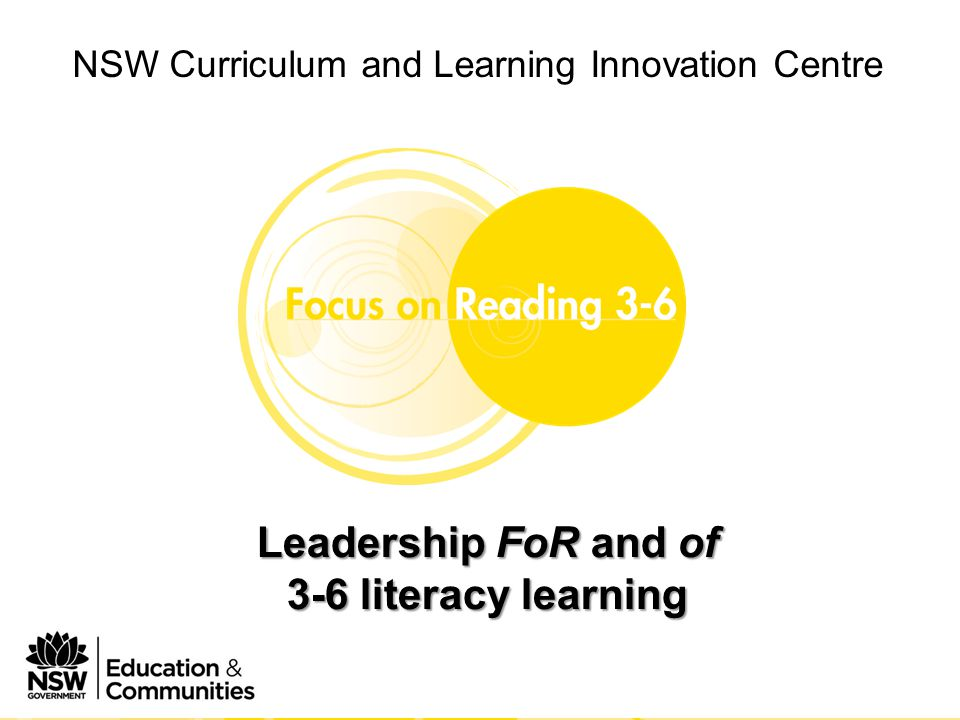 NSW Curriculum and Learning Innovation Centre Phase 1 Module 2 Leading FoR 3-6 in your school Bibliography Gioun, L.