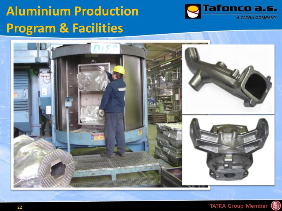 Aluminium Production Program & Facilities TATRA Group Member 22
