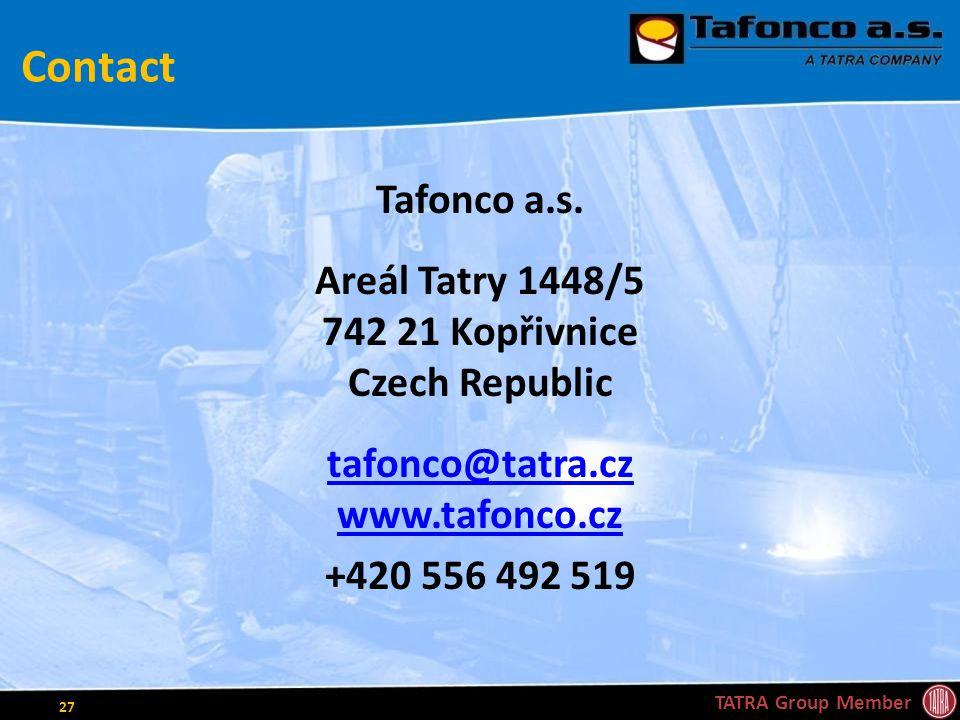 Contact Tafonco a.s.
