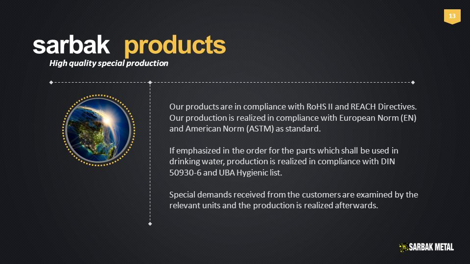 13 Our products are in compliance with RoHS II and REACH Directives.
