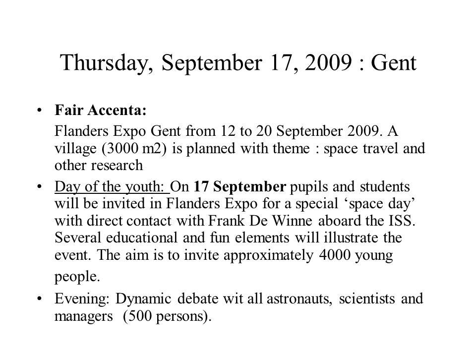 Friday September 18, 2009 Leuven a.m.