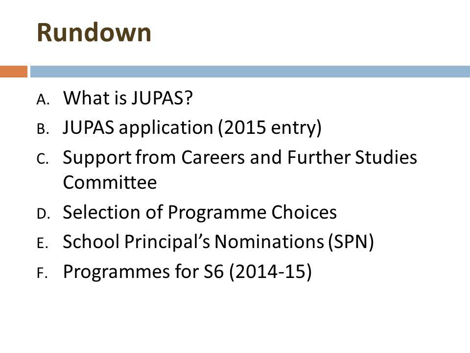 JUPAS Talk for S6