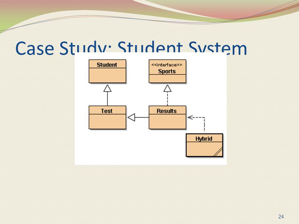 Case Study: Student System 24