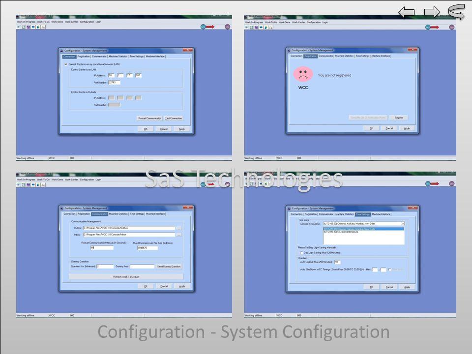 Configuration - System Configuration SaS Technologies