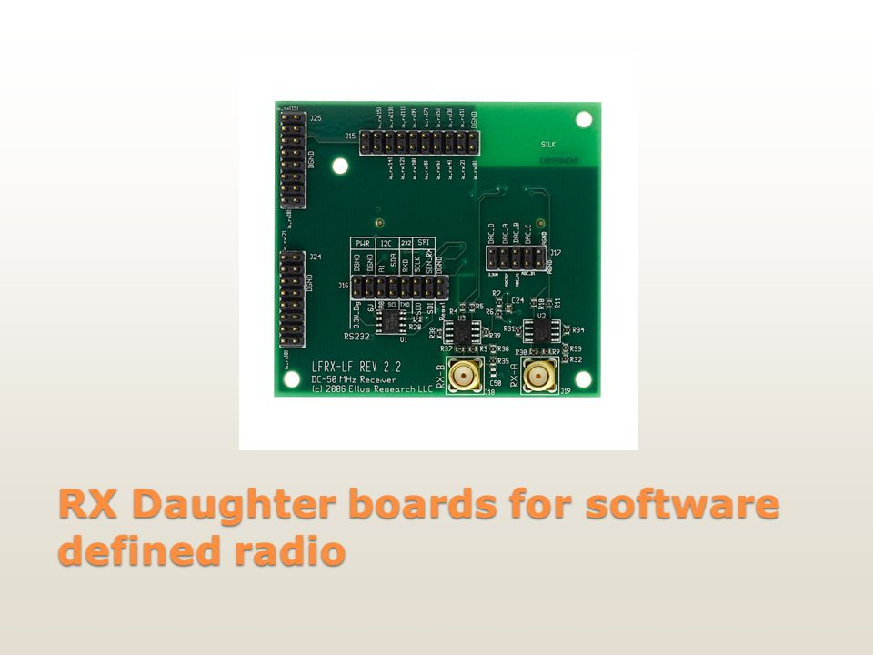 RX Daughter boards for software defined radio