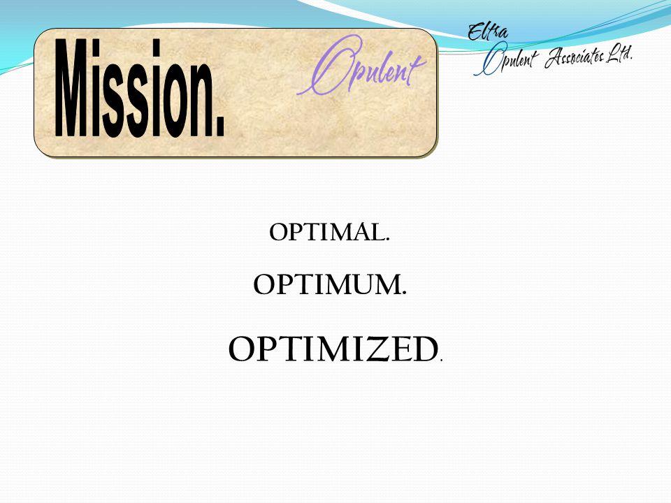 OPTIMAL. OPTIMUM. OPTIMIZED.