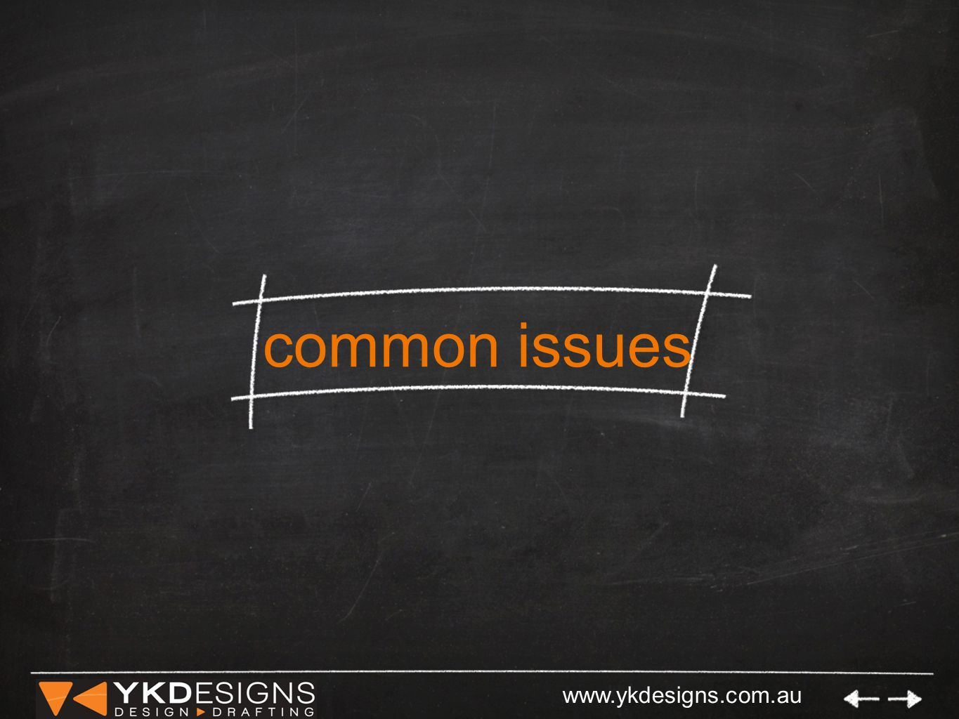www.ykdesigns.com.au common issues