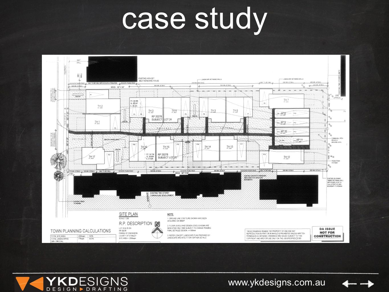 www.ykdesigns.com.au case study Multi-Res Development on a challenging site.
