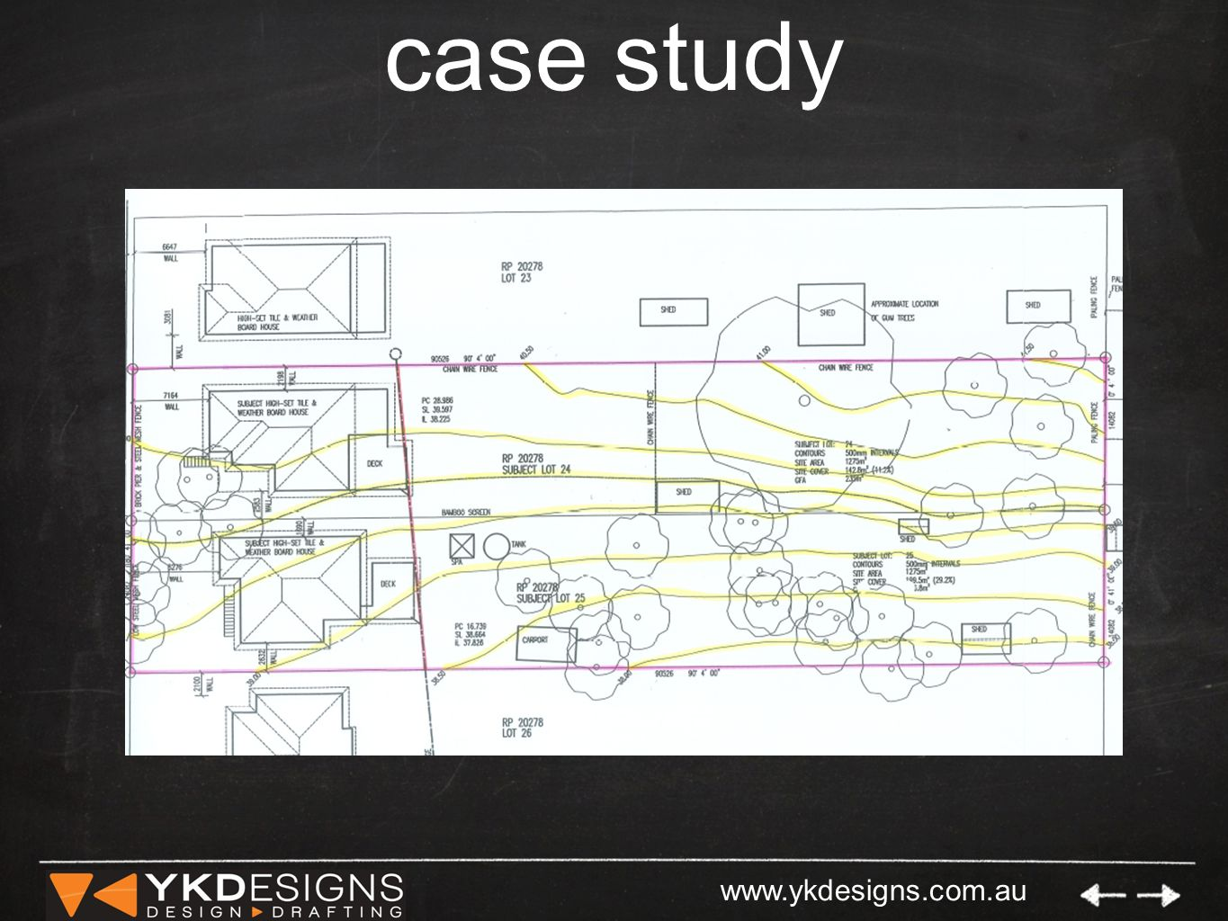 www.ykdesigns.com.au case study con't Multi-Res Development on a challenging site.