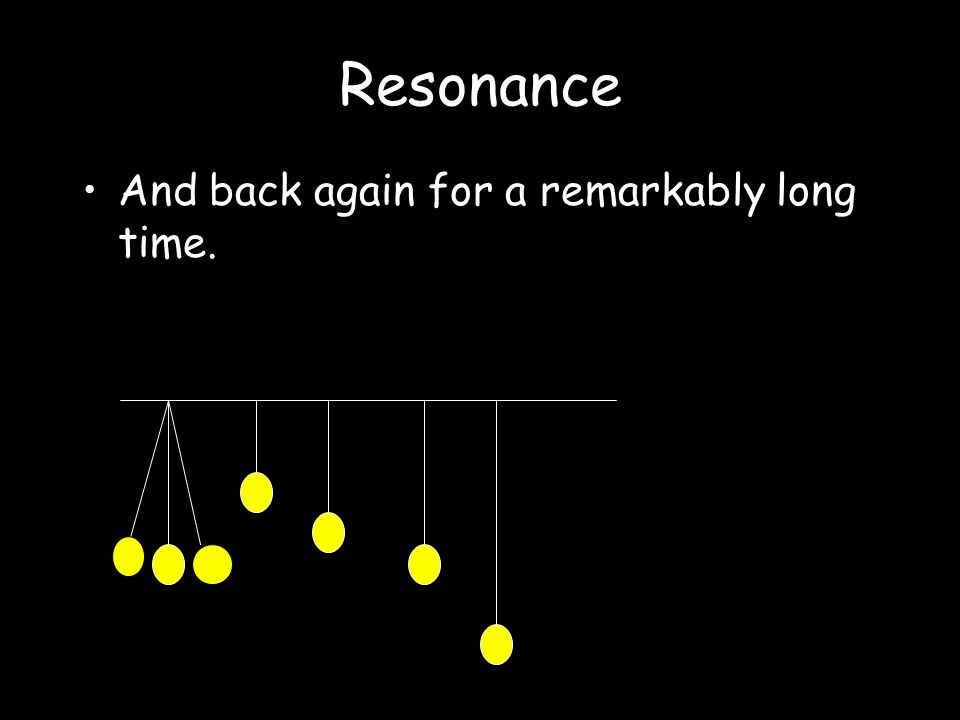 Resonance The energy is transferred only to the pendulum of the same length. Barton's Pendulum