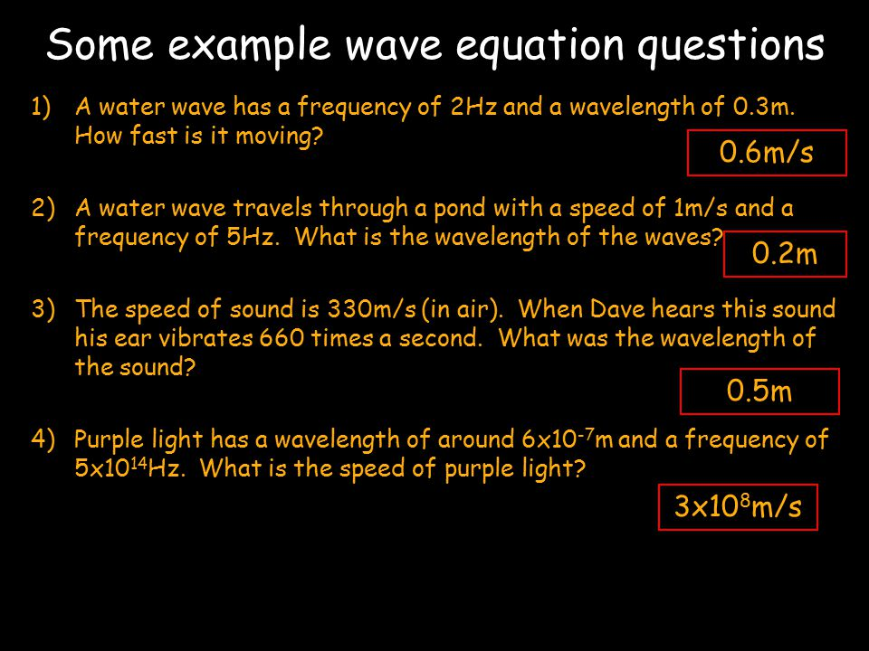 f Using this formula we can convert any wavelength to a frequency.