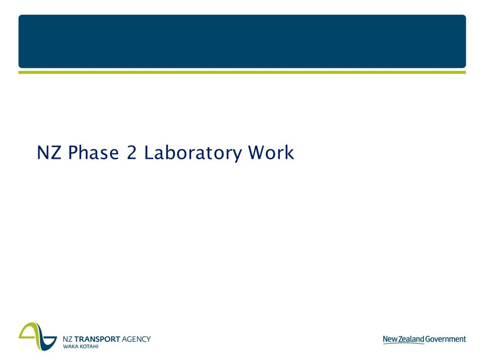NZ Phase 2 Laboratory Work