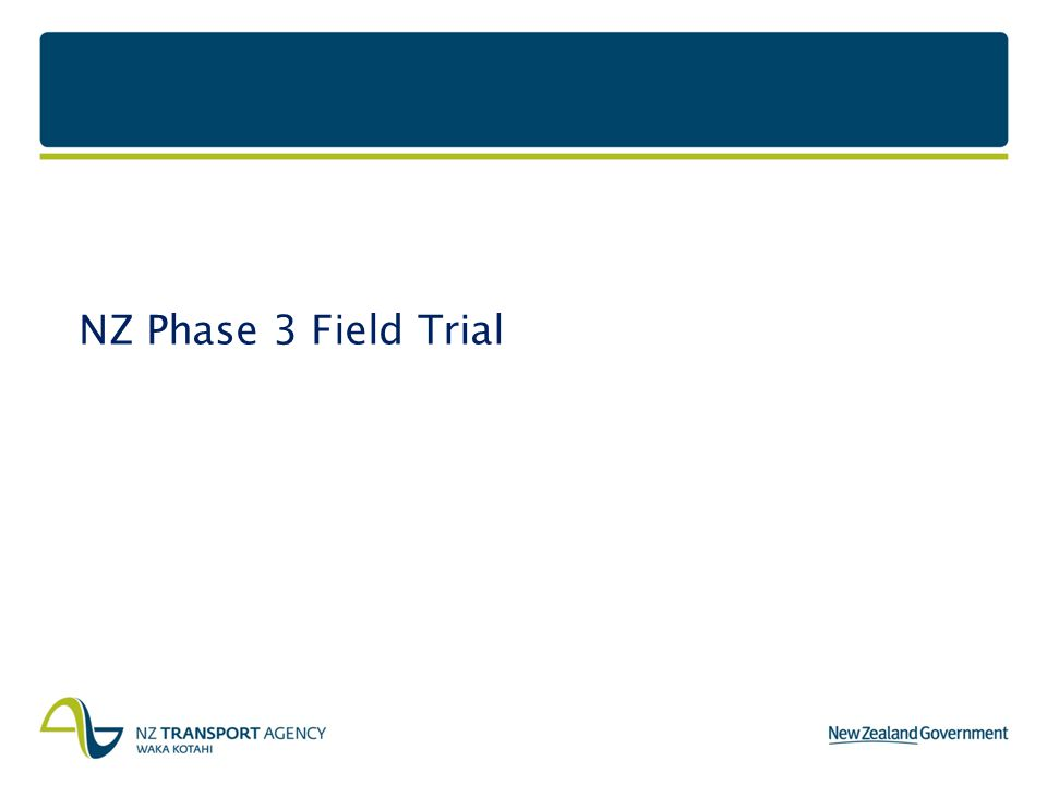 NZ Phase 3 Field Trial