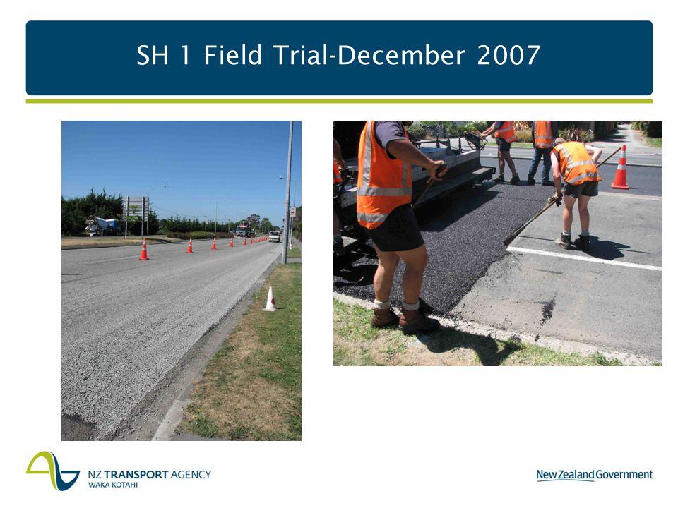 SH 1 Field Trial-December 2007