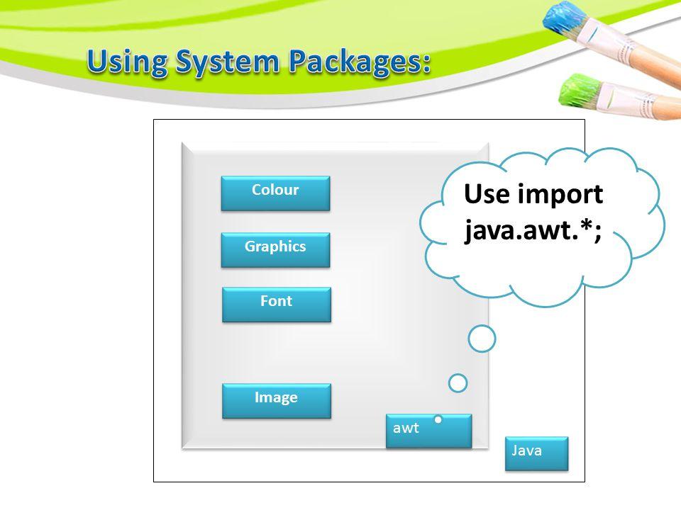 Java applet net awt io util lang
