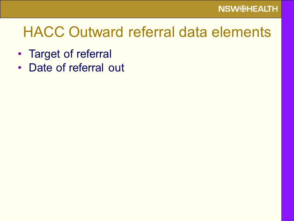 Target of referral Date of referral out
