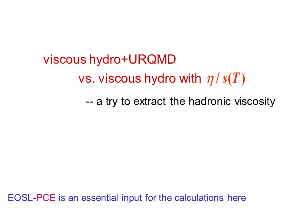 viscous hydro+URQMD -- a try to extract the hadronic viscosity vs.