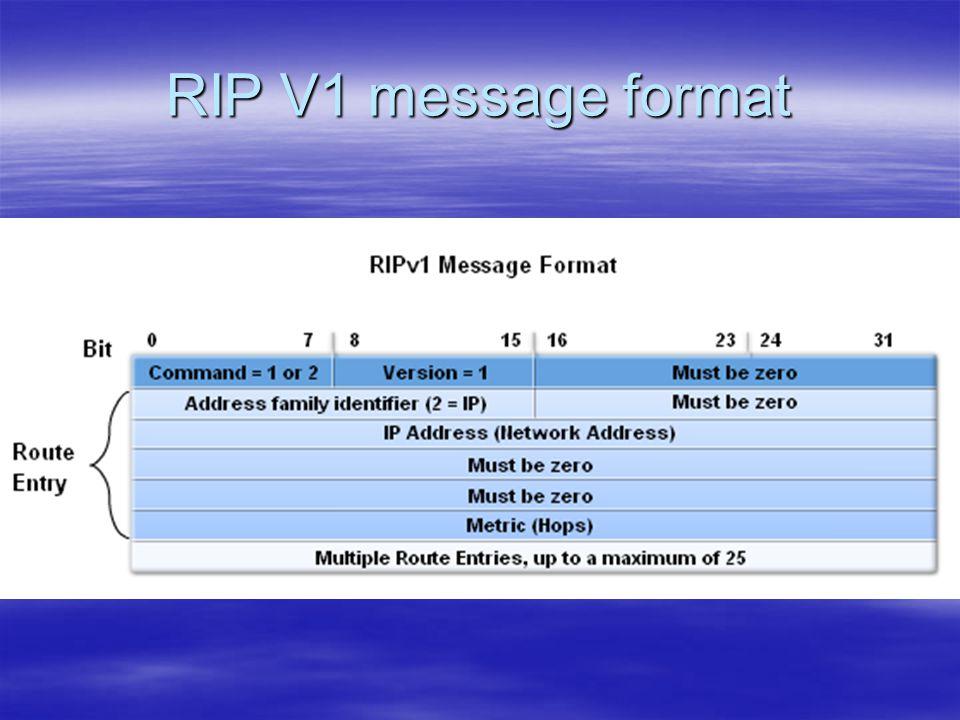 RIP V1 message format