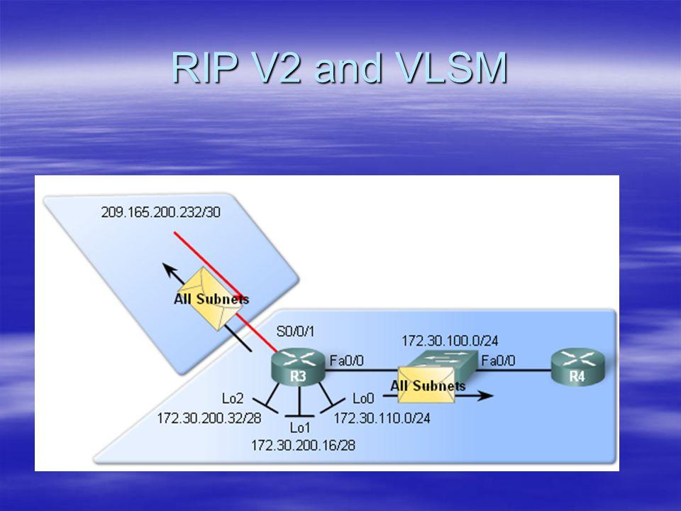 RIP V2 and VLSM