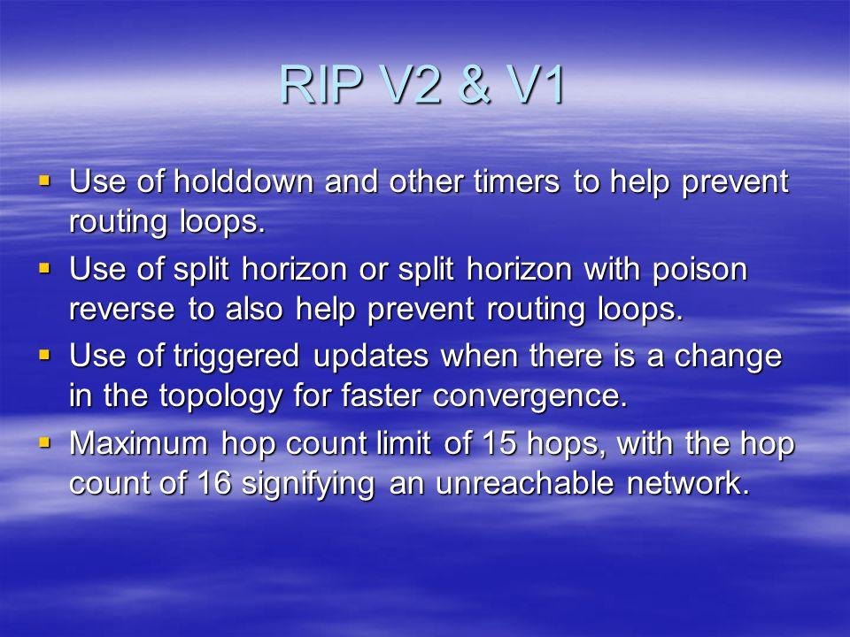 RIP v1 Limitation (Discontiguous Address)