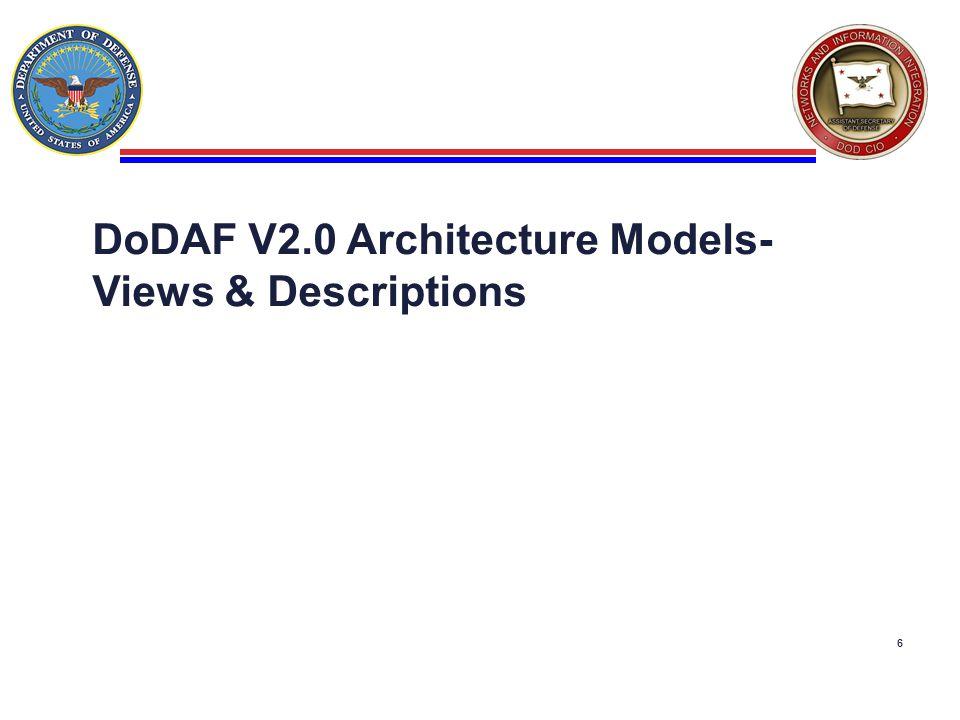 6 DoDAF V2.0 Architecture Models- Views & Descriptions