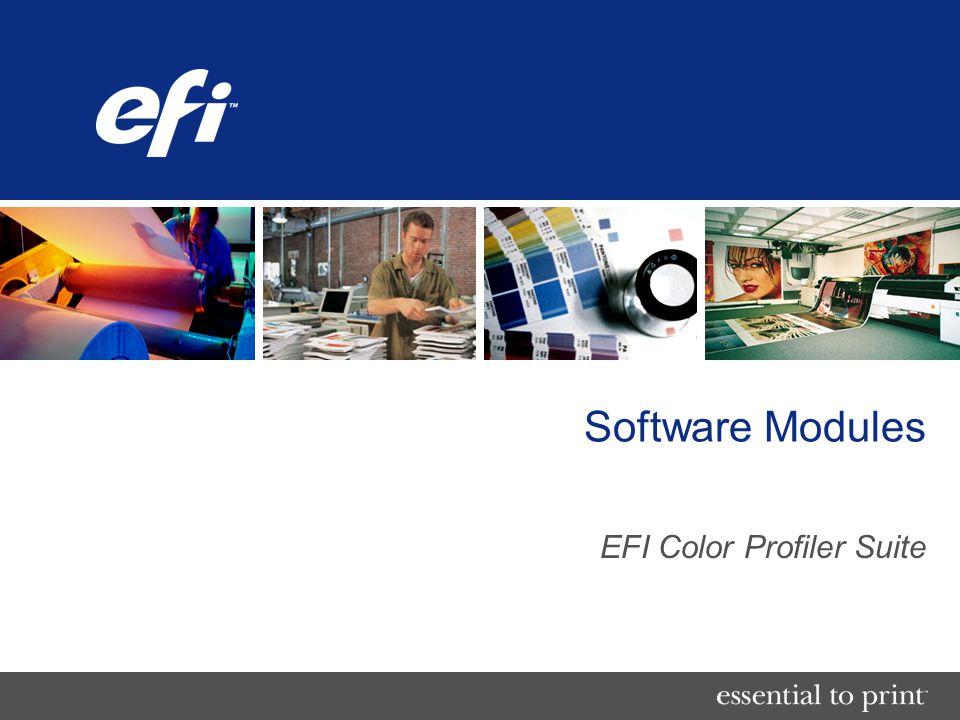 Software Modules EFI Color Profiler Suite