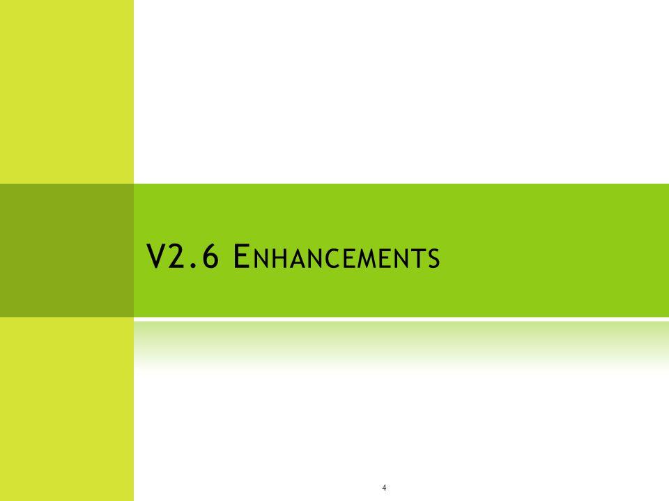 V2.6 E NHANCEMENTS 4