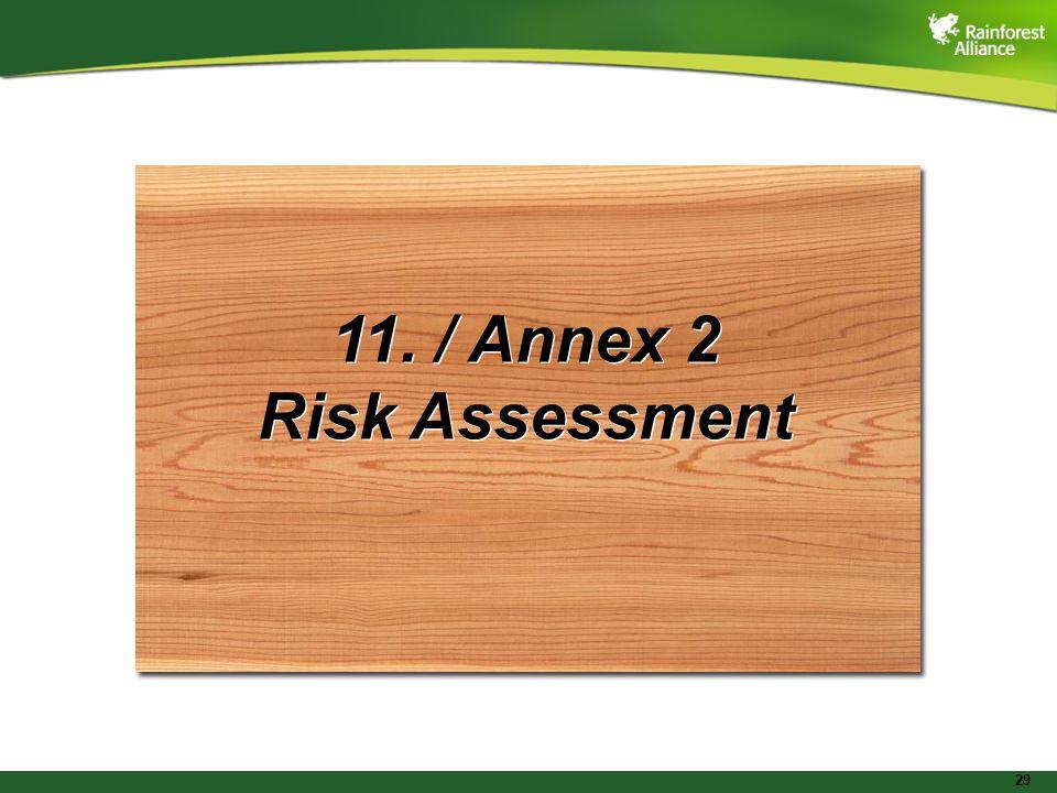 29 11. / Annex 2 Risk Assessment