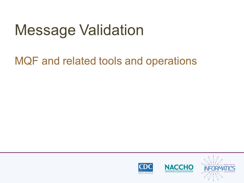 Message Validation MQF and related tools and operations