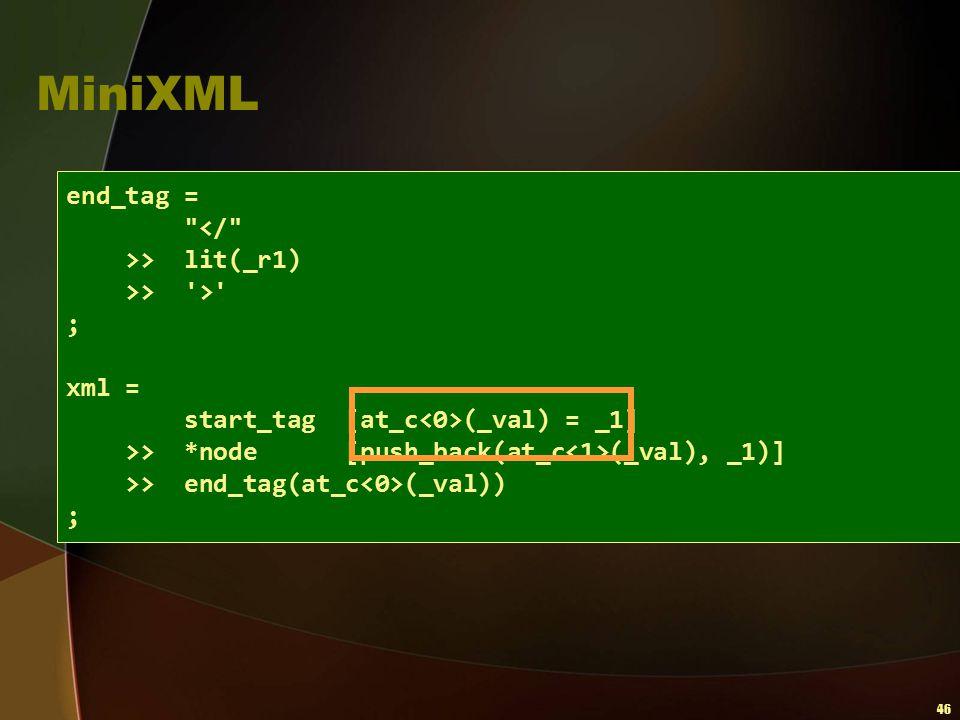 46 MiniXML end_tag =