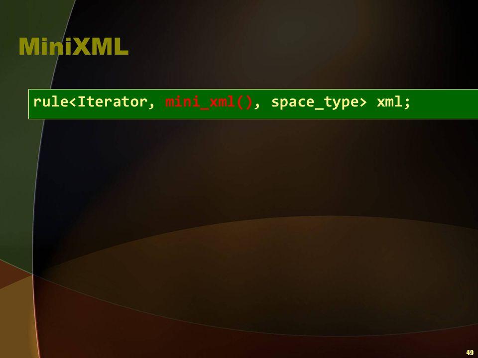 49 MiniXML rule xml;