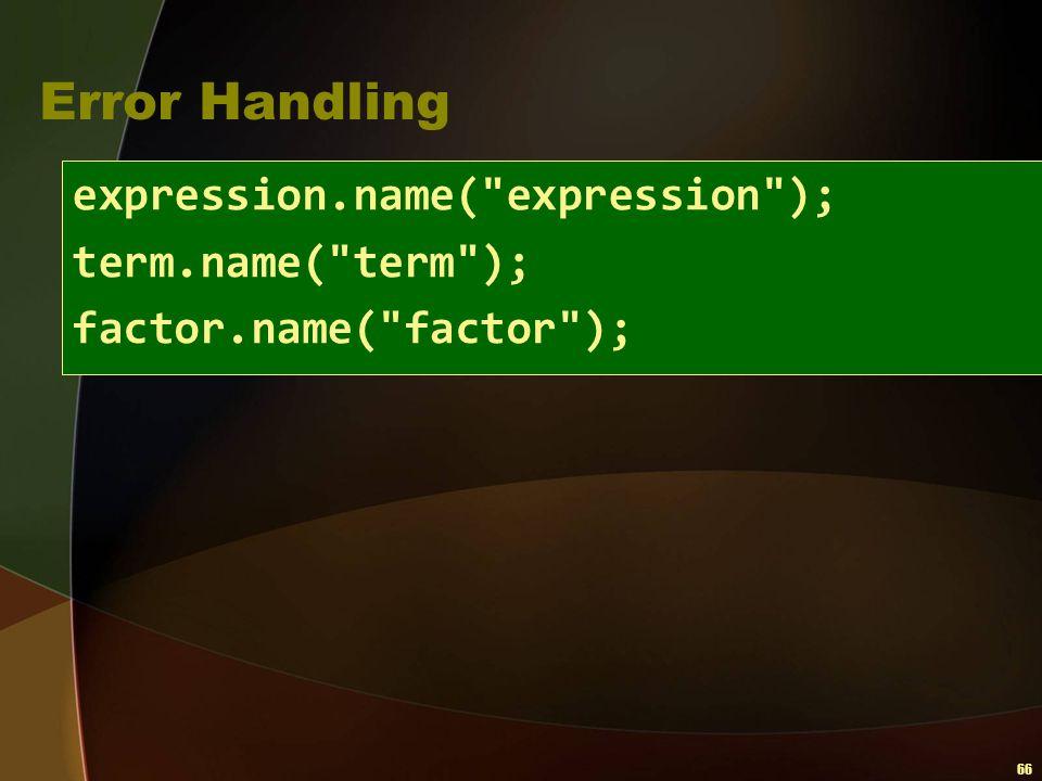 66 Error Handling expression.name(