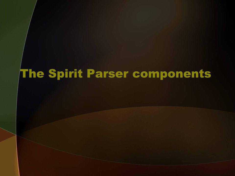 The Spirit Parser components