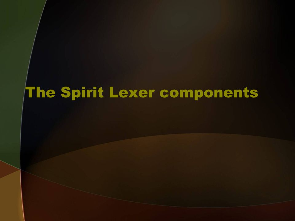 The Spirit Lexer components