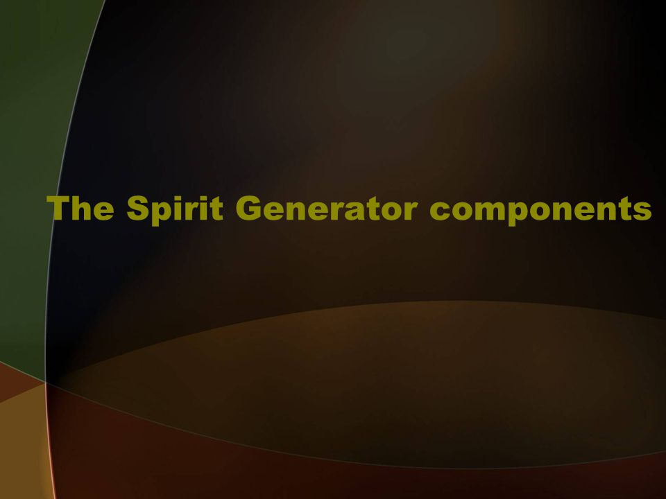 The Spirit Generator components