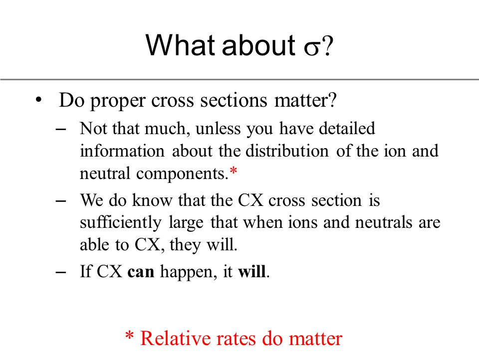 What about  Do proper cross sections matter.