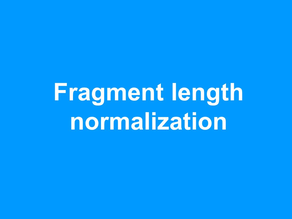 Fragment length normalization