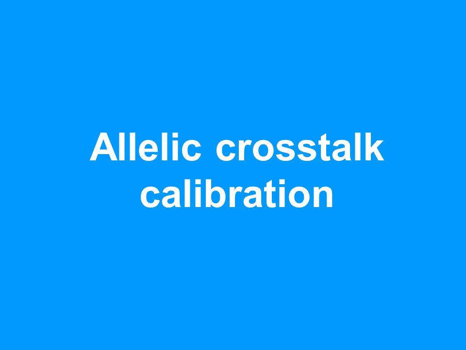 Allelic crosstalk calibration