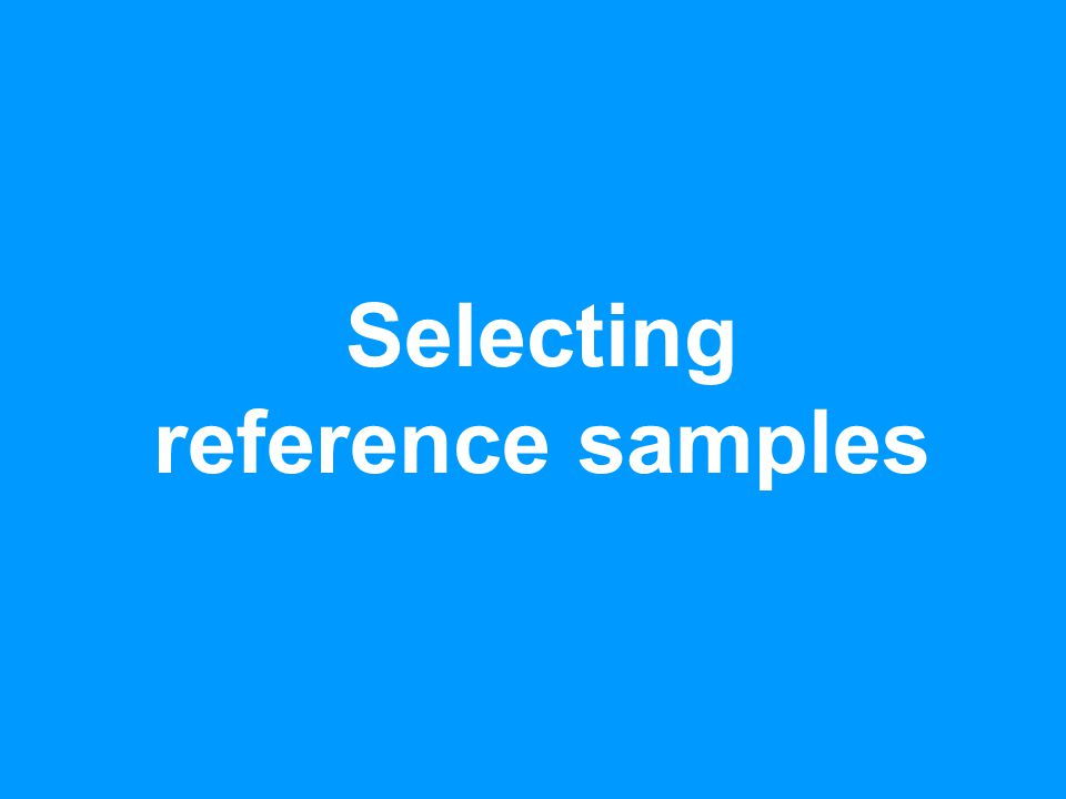 Selecting reference samples