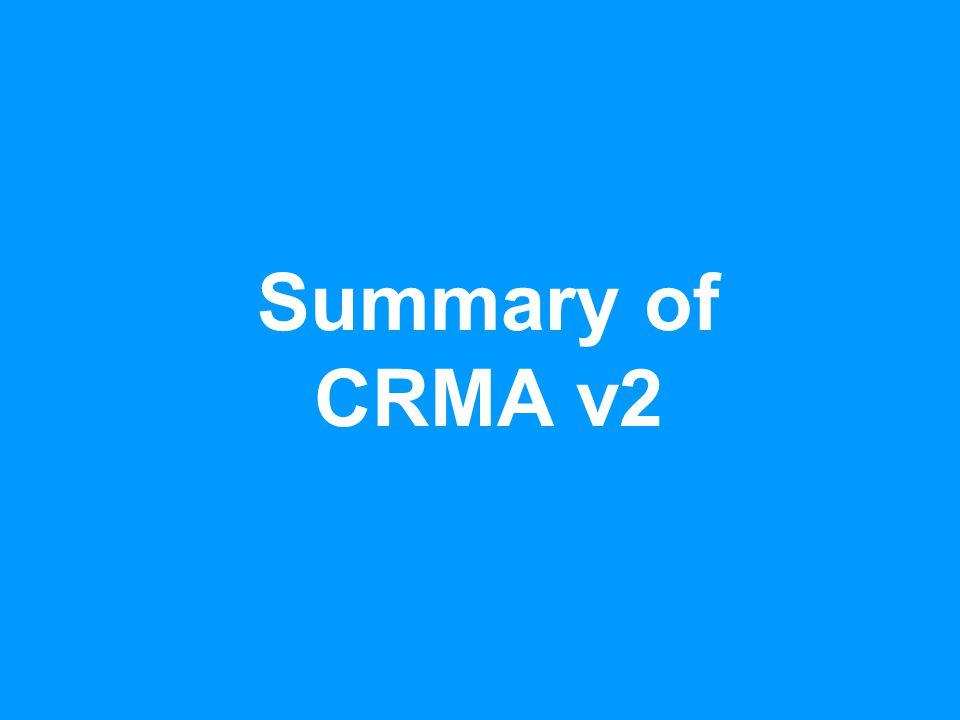 Summary of CRMA v2