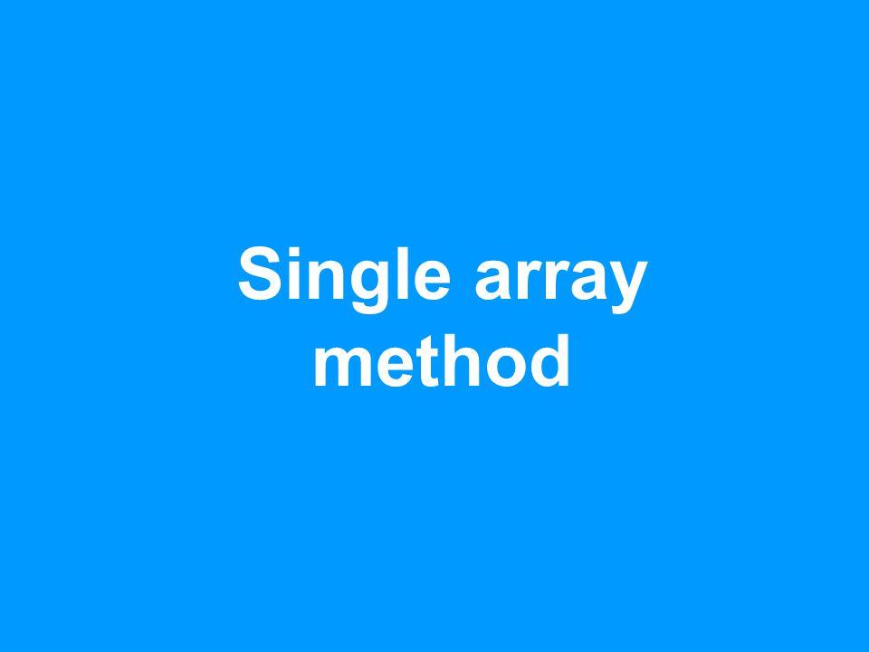 Single array method