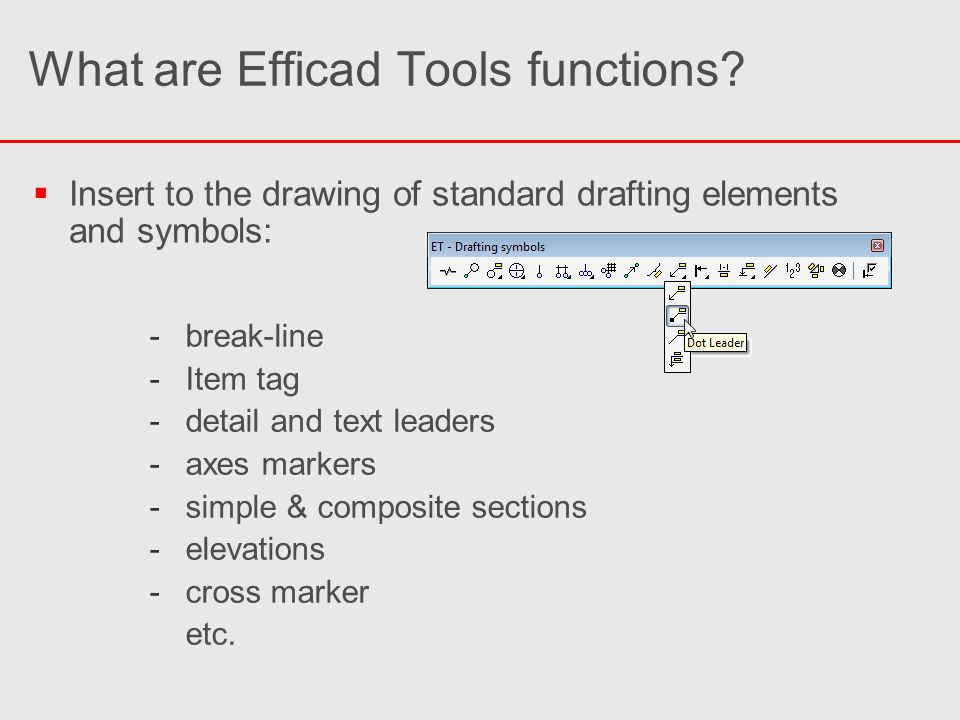 What are Efficad Tools functions?   Quick axes grid creation