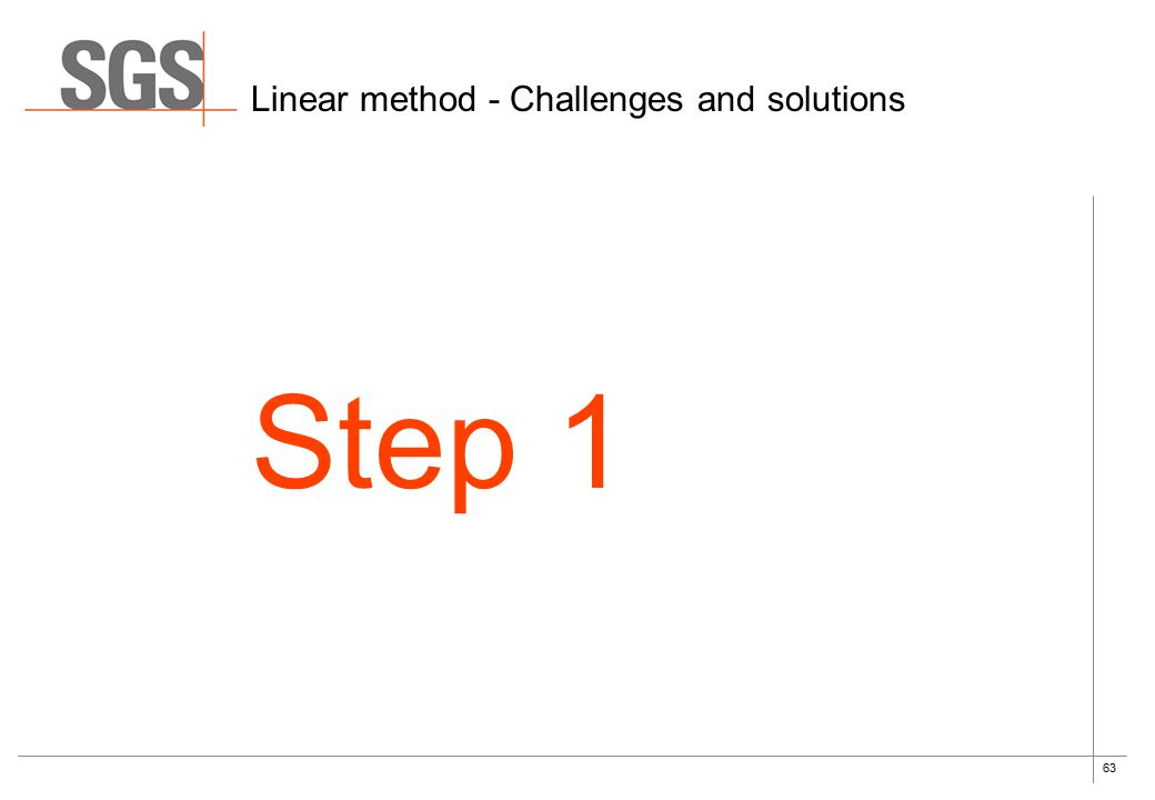 63 Linear method - Challenges and solutions Step 1