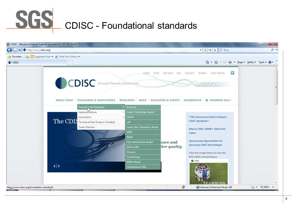 8 CDISC - Foundational standards