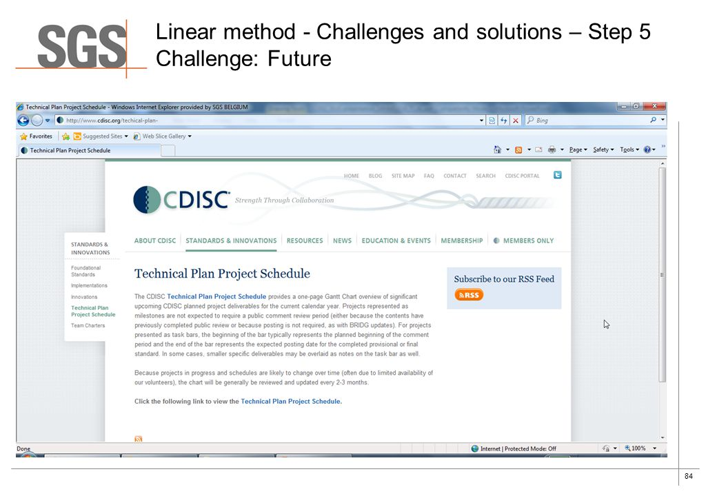 84 Linear method - Challenges and solutions – Step 5 Challenge: Future