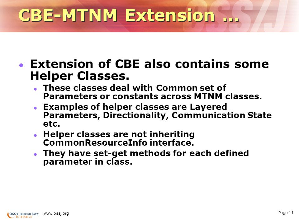 Page 10   CBE-MTNM Extension …