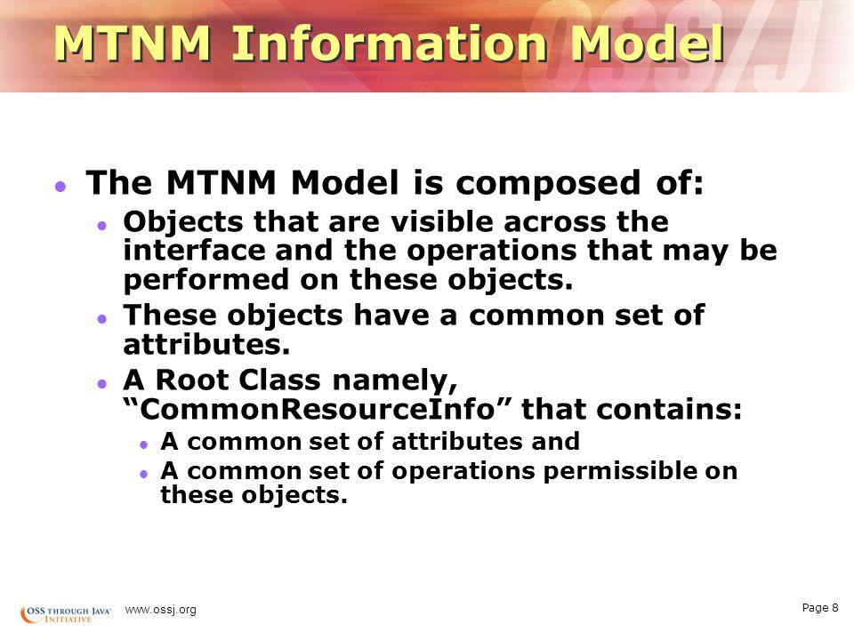 Page 18 www.ossj.org Roadmap … Q4 05Q3 05 Q2 05 Q1 05Q2 06 OSS/J CBE Extensions on Java.netJava.net Realization Kit- Phase 1 Realization Kit- Phase 2 CBE Extensions OSS/J CBE APIs extended to incorporate MTNM data model.