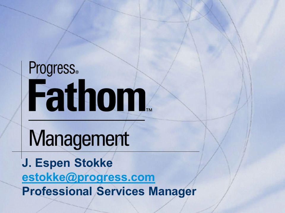 J. Espen Stokke estokke@progress.com Professional Services Manager