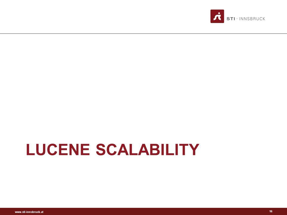 www.sti-innsbruck.at LUCENE SCALABILITY 16