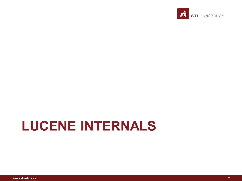 www.sti-innsbruck.at LUCENE INTERNALS 9